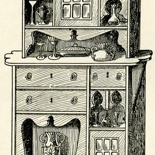 Victorian Furniture Flemish Cabinet