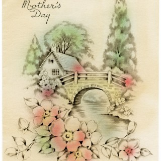 Vintage Mother's Day Scenic Card