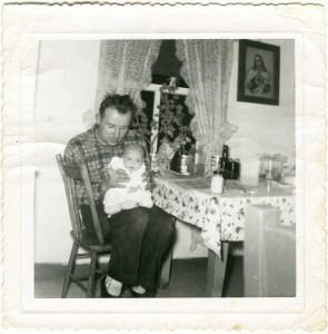 1959 Dad holding me 6wks2 600 dpi copy