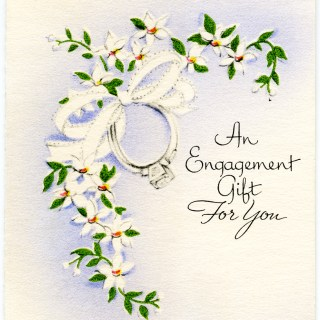 Vintage Engagement Gift Card