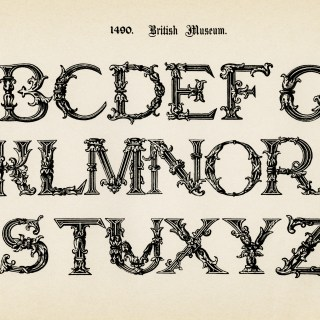 British Museum Vintage Alphabet Image