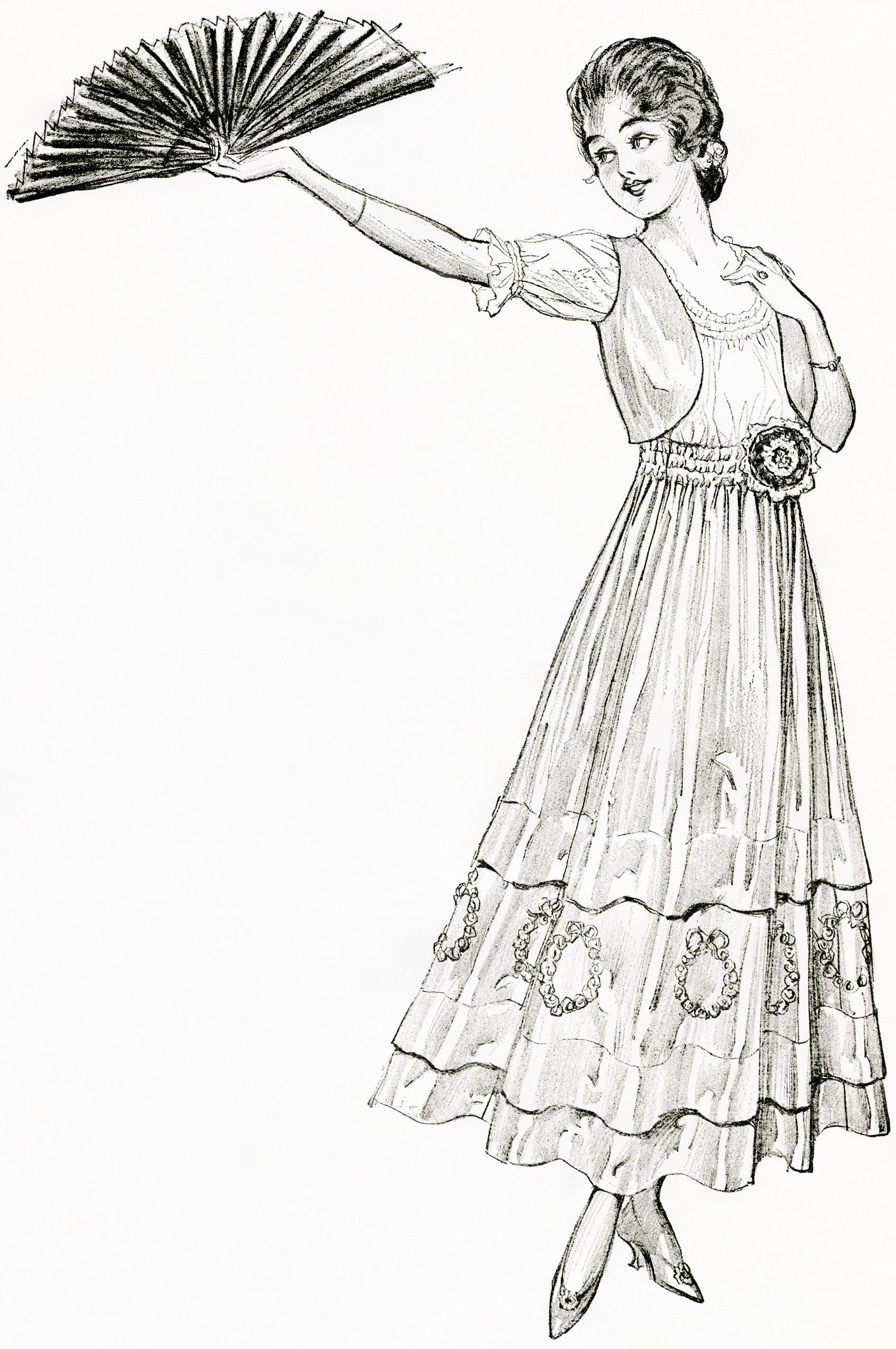 Vintage Lady Picture Clip Art