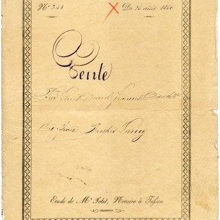 Antique French Legal Sale Document Cover
