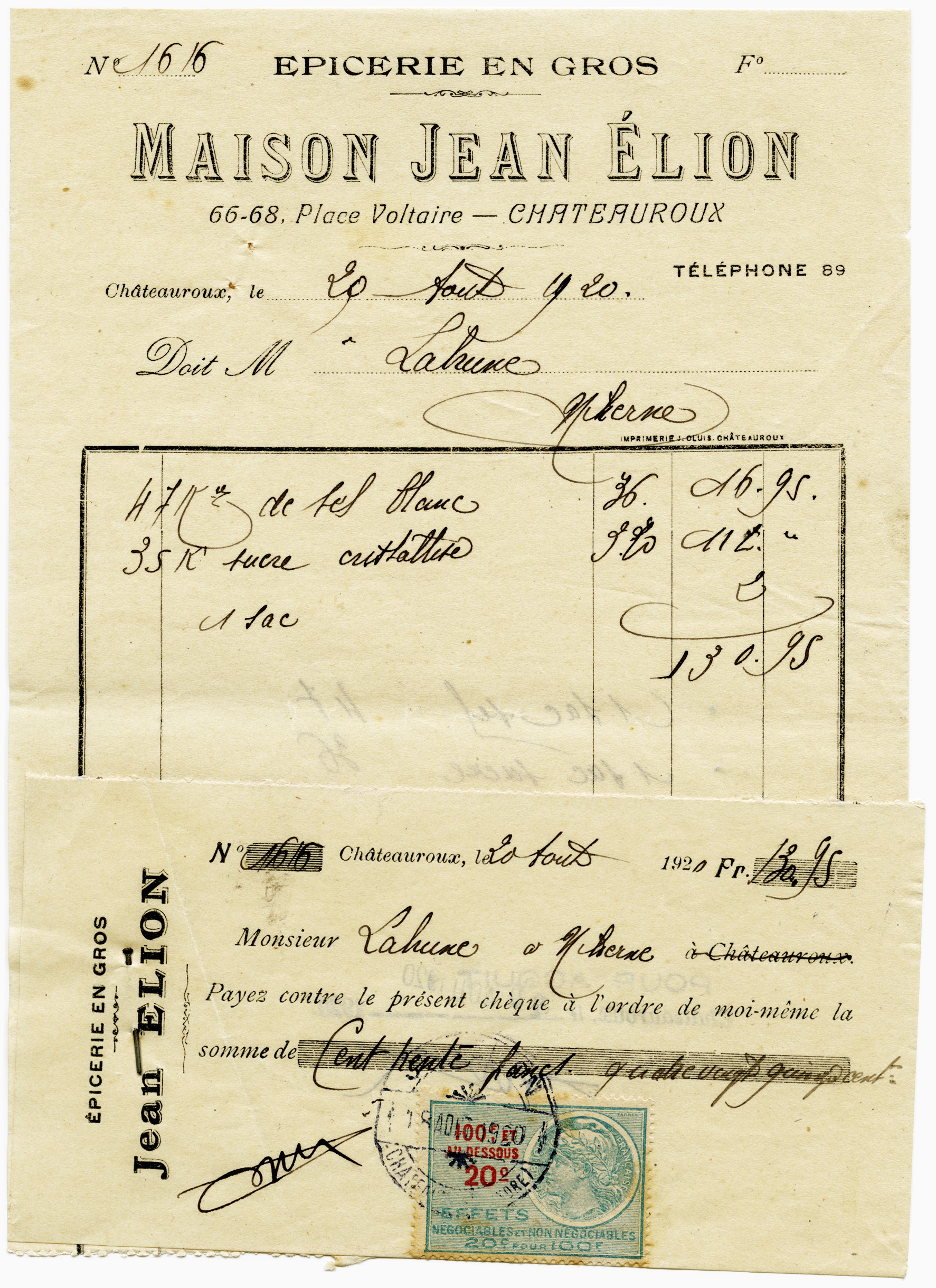 Vintage French Invoice And Cheque Old Design Shop Blog