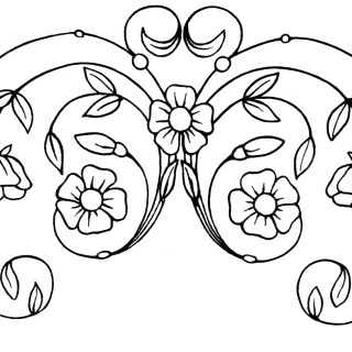 Free Vintage Clipart ~ Flowers Leaves Swirls