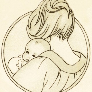 Free Vintage Image ~ Mom and Baby