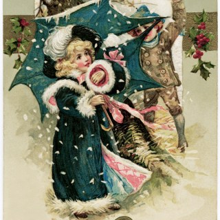Winsch 1911 Christmas Postcard Snowball Fight