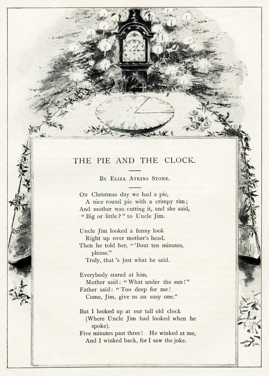 Christmas Poem By Eliza Atkins Stone Old Design Shop Blog