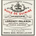 vintage French label, French beauty label, huile de quinine image, antique french label clipart