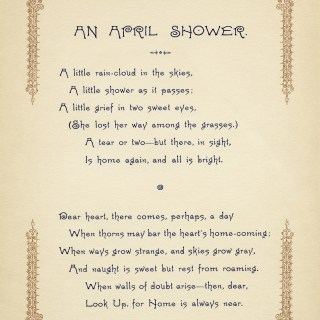 Free Vintage Image ~ An April Shower Poem
