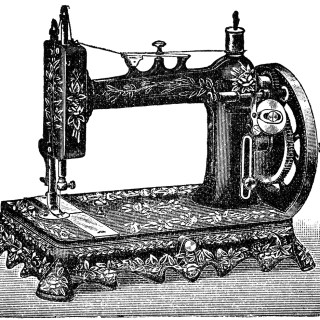 Free Vintage Image ~ French Sewing Machine Clipart 1901