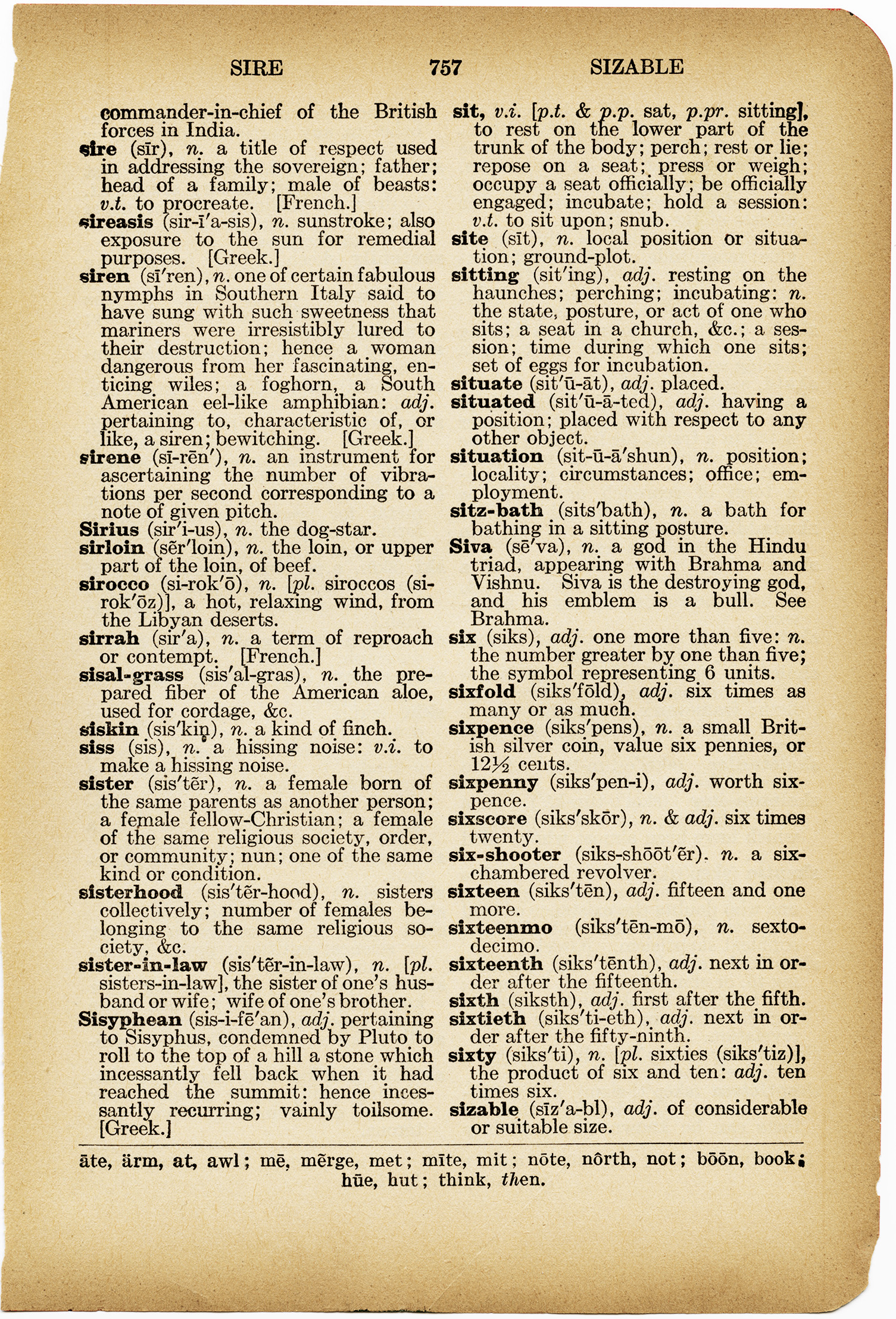 Sister Free Vintage Dictionary Page