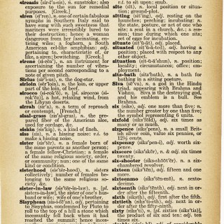 Sister ~ Free Vintage Dictionary Page