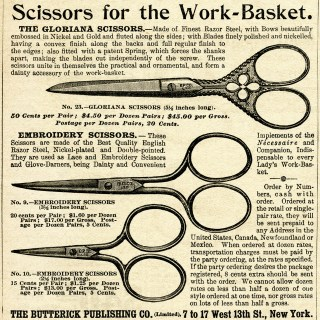Free Vintage Image ~ Scissors Magazine Ad and Clip Art