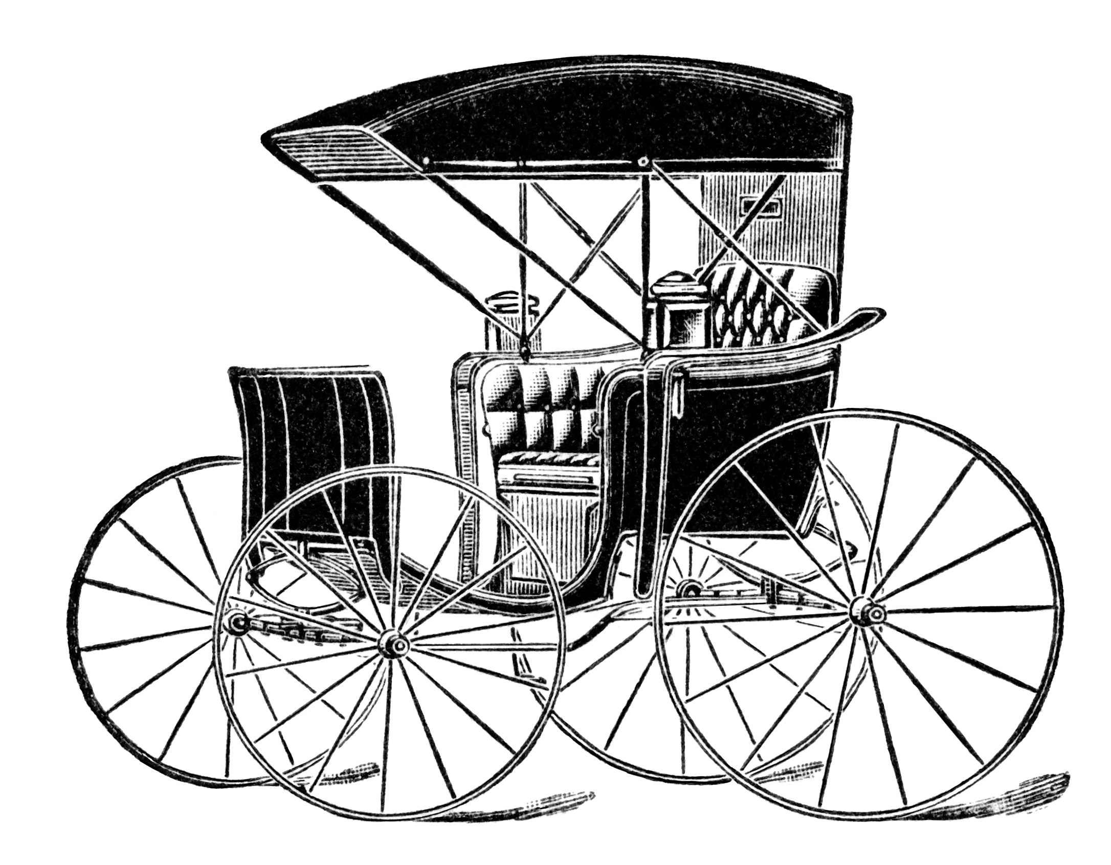 Horse Drawn Carriage Ad And Clip Art