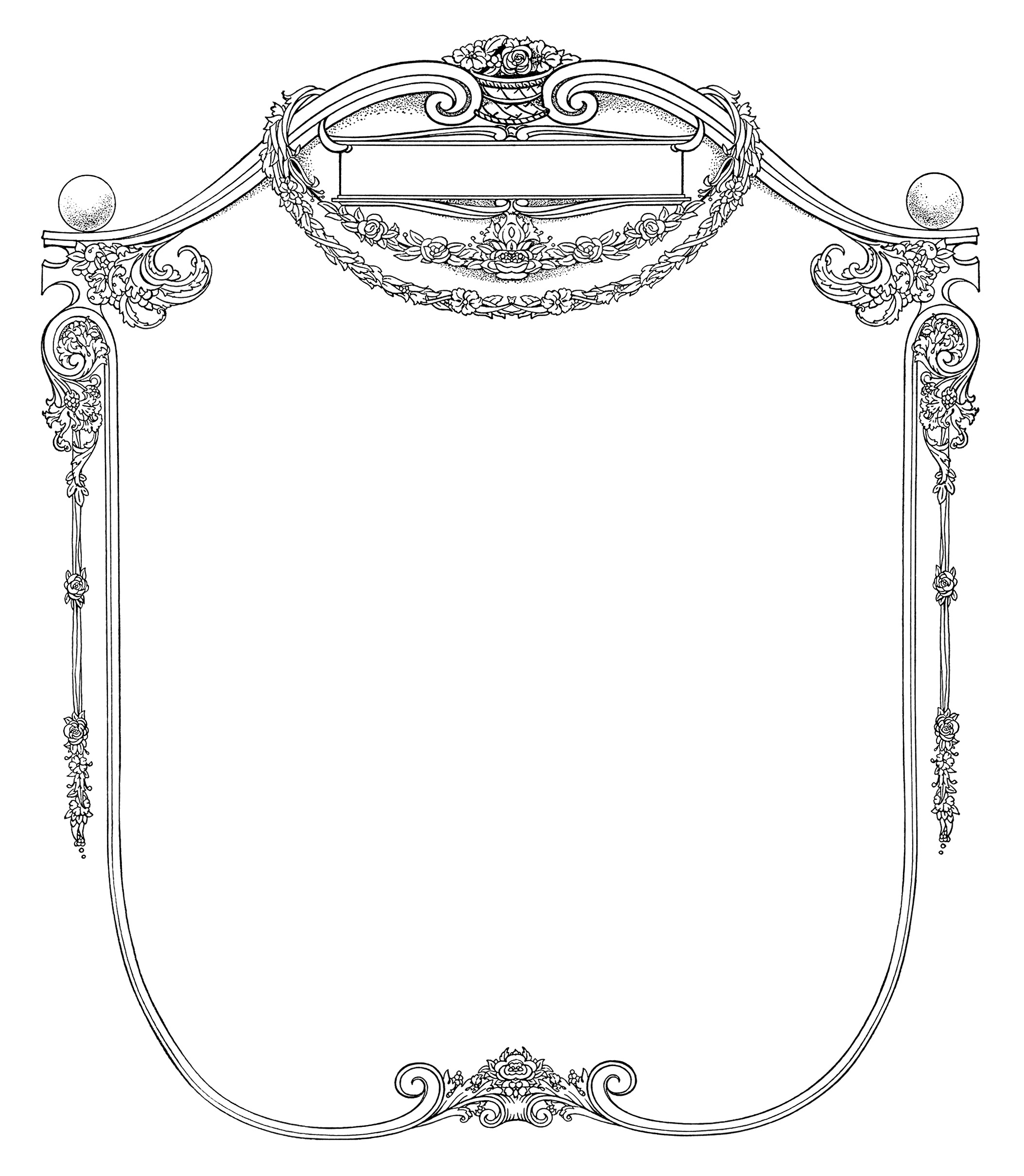 Free Grungy Page and Ornate Frame Clip Art | Old Design ...