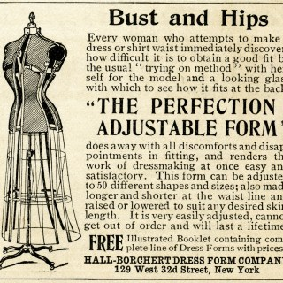 Sewing Dress Form ~ Free Vintage Clip Art