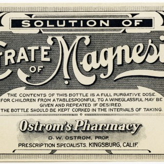 Free Vintage Image ~ Citrate of Magnesia Label
