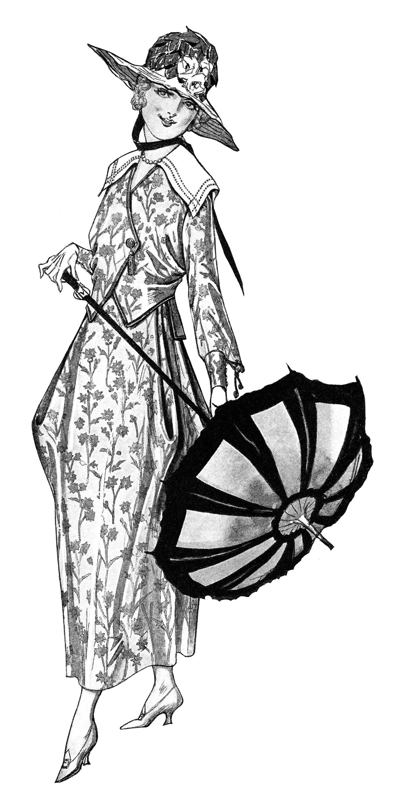 Free Vintage Lady Clip Art