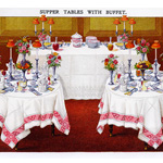 Now Available in my Etsy Shop ~ Mrs. Beeton's Supper Tables with Buffet