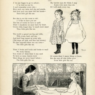 Free Vintage Image ~ School Girl Poem and Clip Art