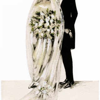 Bride and Groom ~ Free Victorian Clipart