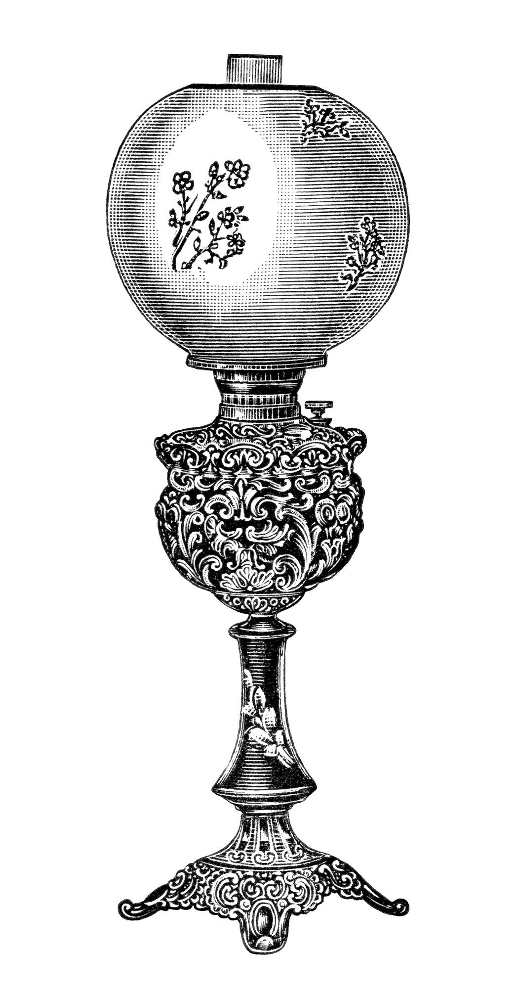 Free Vintage Image Brass Banquet Lamp 4 Old Design Shop