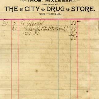 Free Vintage Image ~ The City Drug Store 1894 Invoice