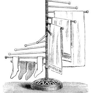 Free Vintage Image ~ Clothes Drier Clip Art