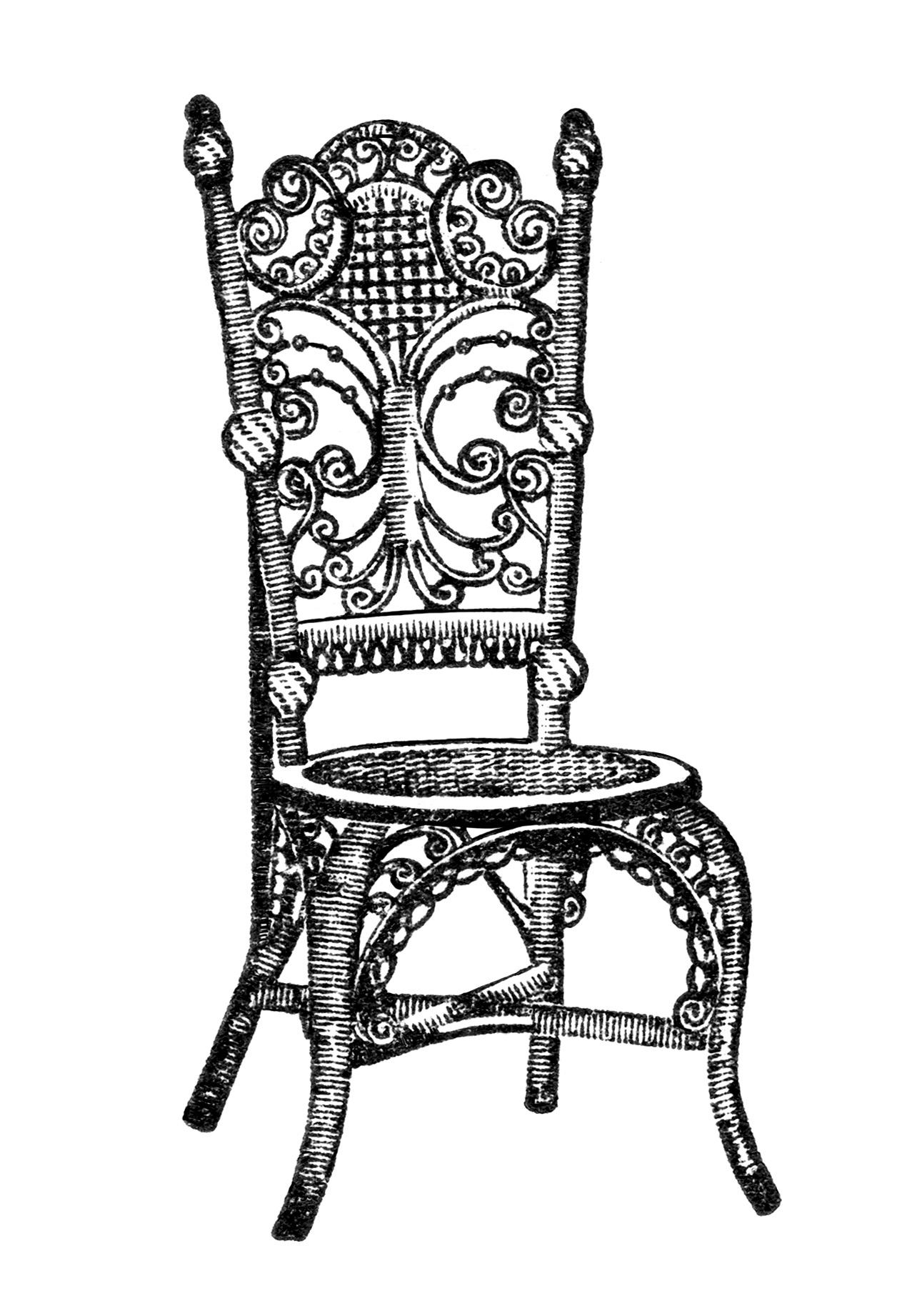 Ornamental Reception Chair Clip Art
