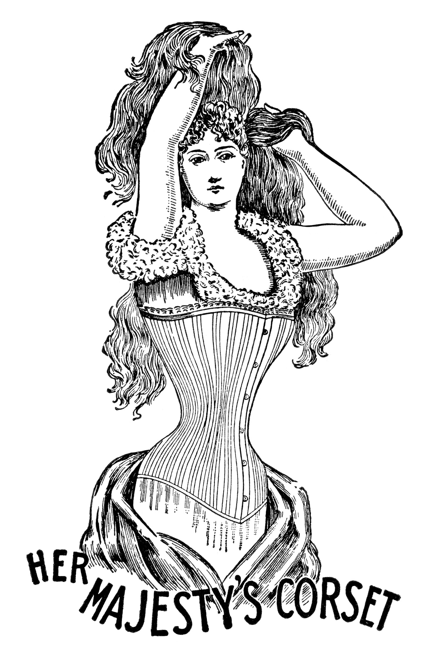 Free Vintage Image Her Majesty S Corset