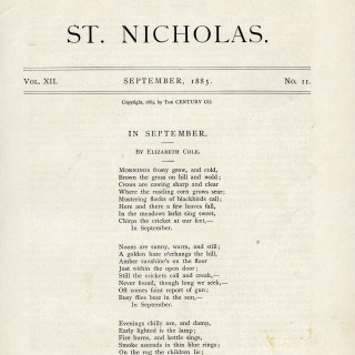 In September Poem by Elizabeth Cole