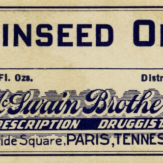 Linseed Oil Drug Store Label