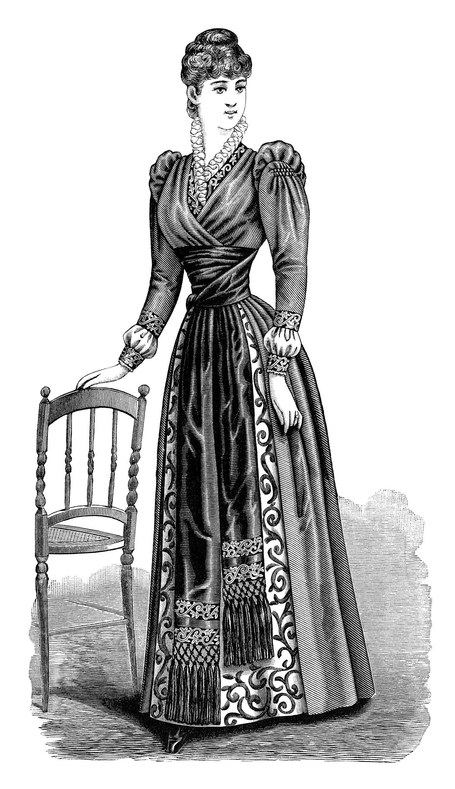 Free Vintage Image Victorian Lady Clip Art   Old Design ...