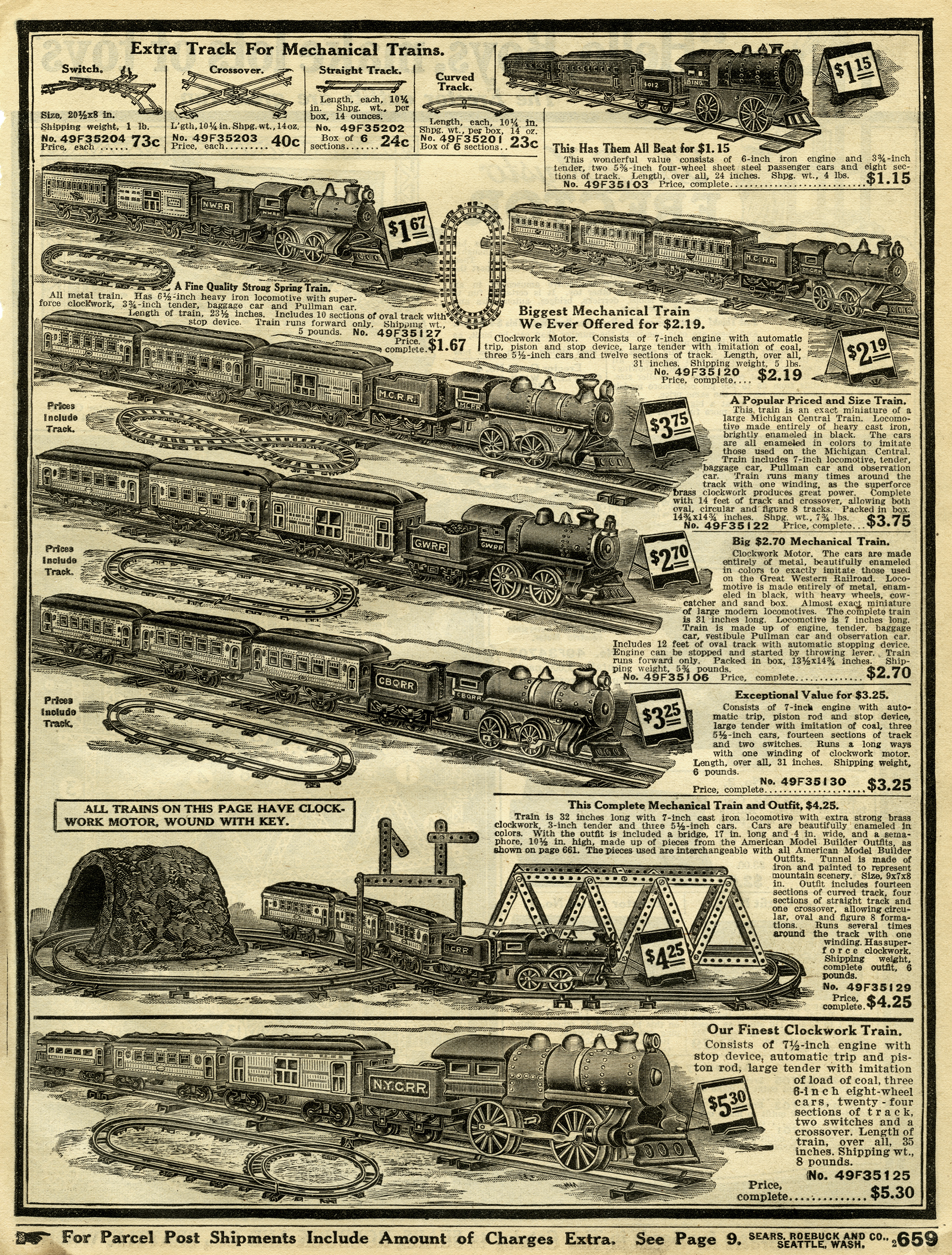 Toy Trains Aged Catalogue Pages Old Design Shop Blog
