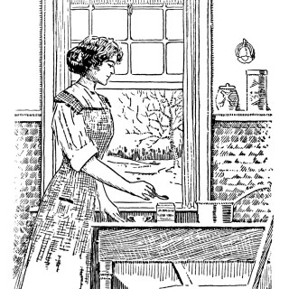 Free Vintage Image ~ Woman Cooking Clip Art