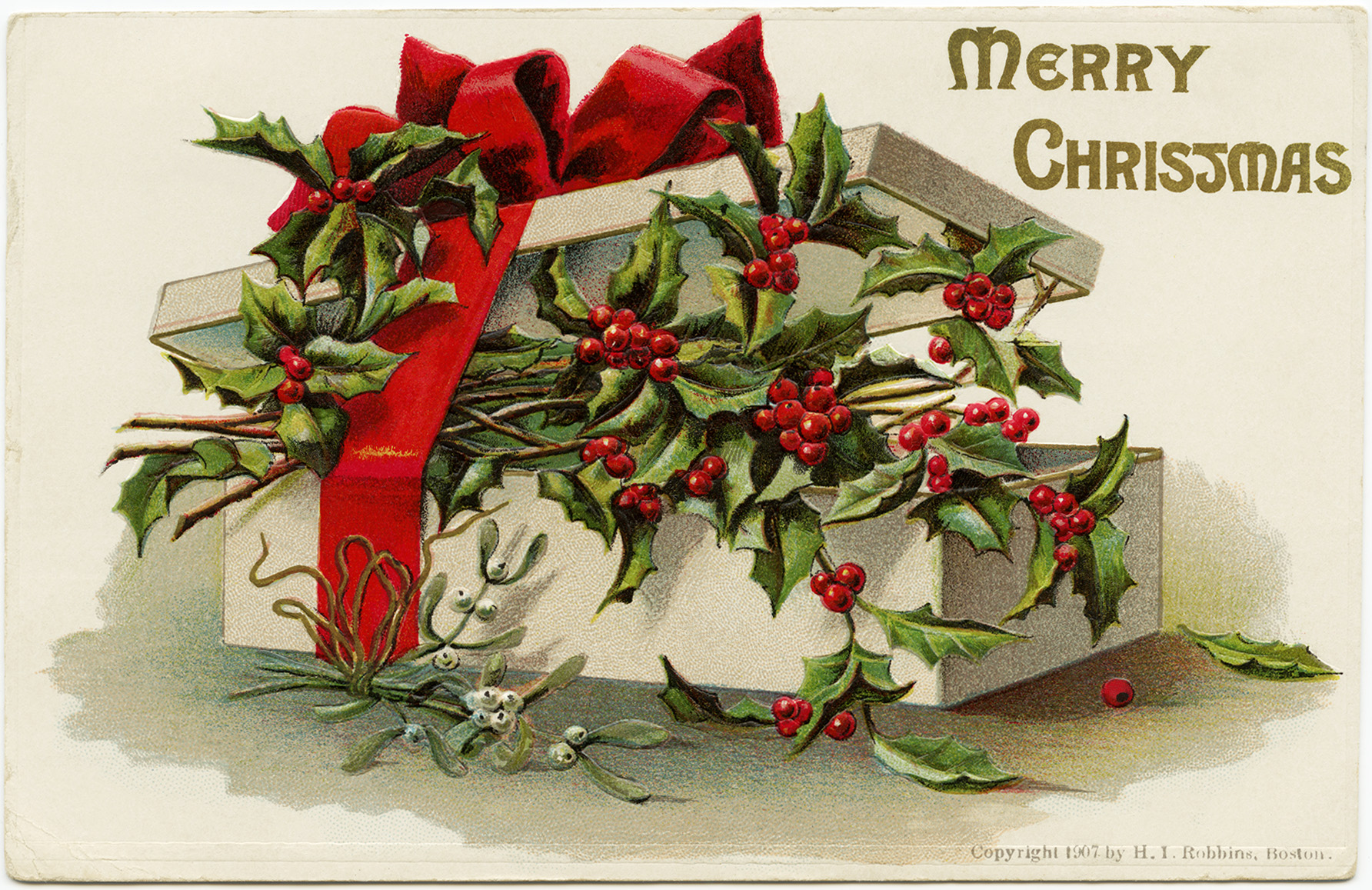 Holly And Berries Free Christmas Image Old Design Shop