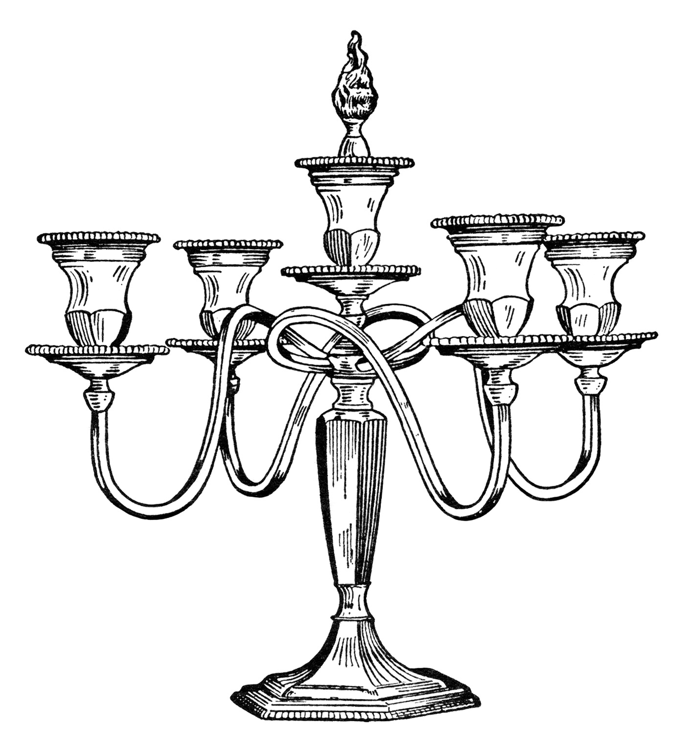 Vintage Candelabra ~ Free Clip Art | Old Design Shop Blog