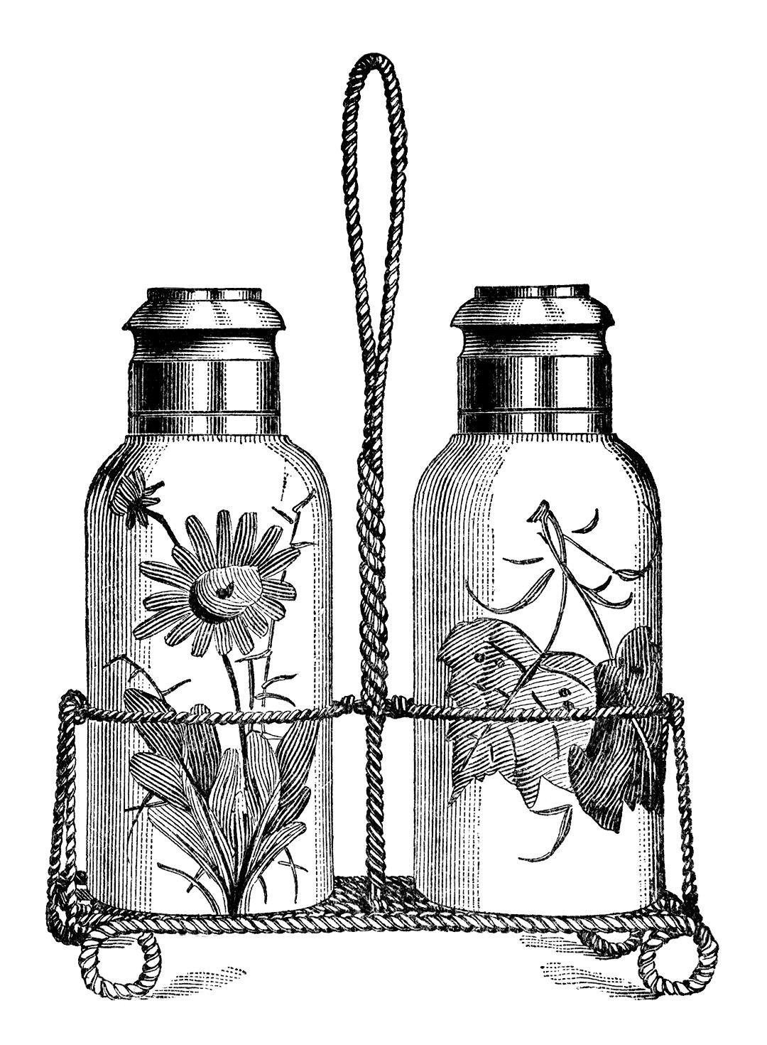 Salt And Pepper Shakers Free Vintage Clip Art