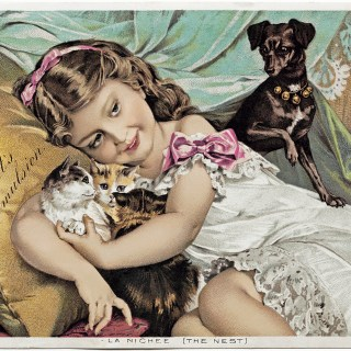 The Little Pets Victorian Advertising Card ~ Free Digital Image