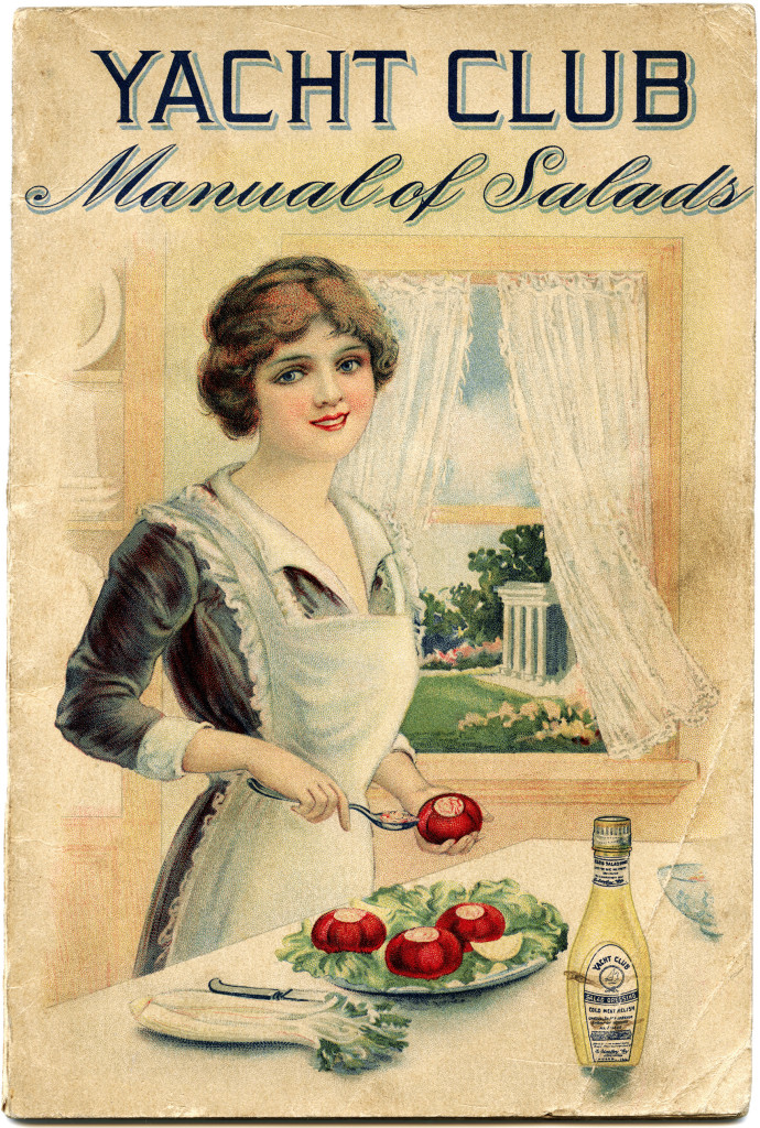 Manual Of Salads Shabby Front Cover Free Vintage Image