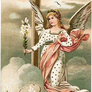 Vintage Angel Easter Postcard ~ Free Download