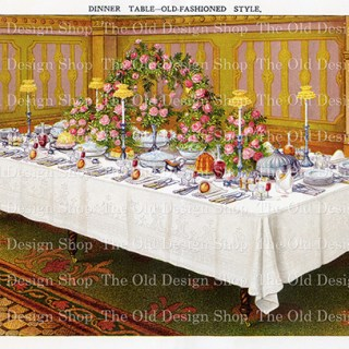 Now Available in my Etsy Shop ~ Mrs. Beeton's Old Fashioned Style Dinner Table
