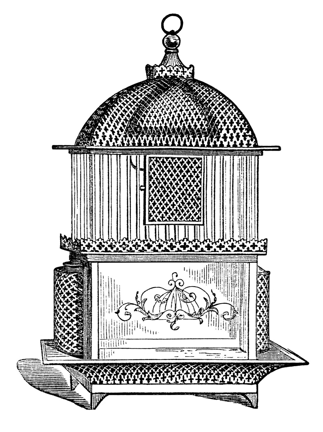 Free Vintage Birdcage Clip Art Images