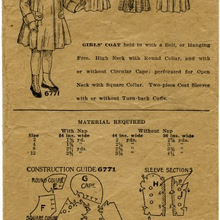 Vintage Girls' Coat Pattern Envelope ~ Free Digital Graphics