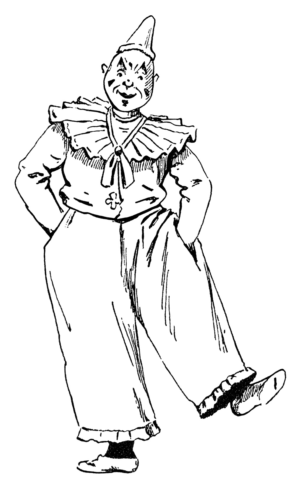 Circus Clown ~ Free Vintage Clip Art Image   Old Design ...