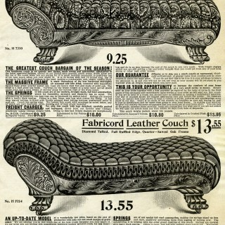 Victorian Couches ~ Free Catalogue Page and Clip Art Images