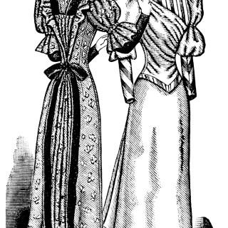 Vintage Dress Form Magazine Ad and Clip Art ~ Free Digital Images