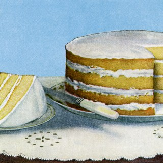 Yellow Layer Cake ~ Free Vintage Food Graphic