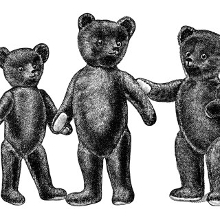 Vintage Teddy Bears ~ Free Catalogue Ad and Clip Art